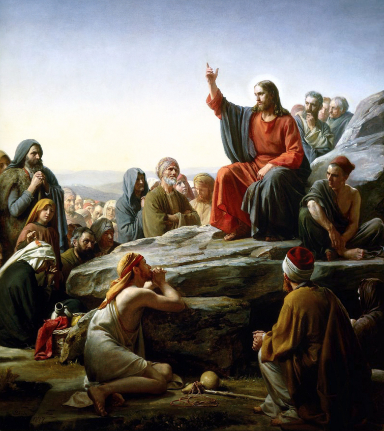 A 19th century painting depicting the Sermon on the Mount, by Carl Bloch