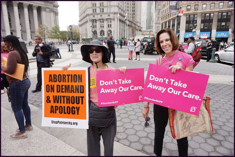 "Planned Parenthood ""Pink Out"" Supporters (The All-Nite Images, Wikimedia Commons)"