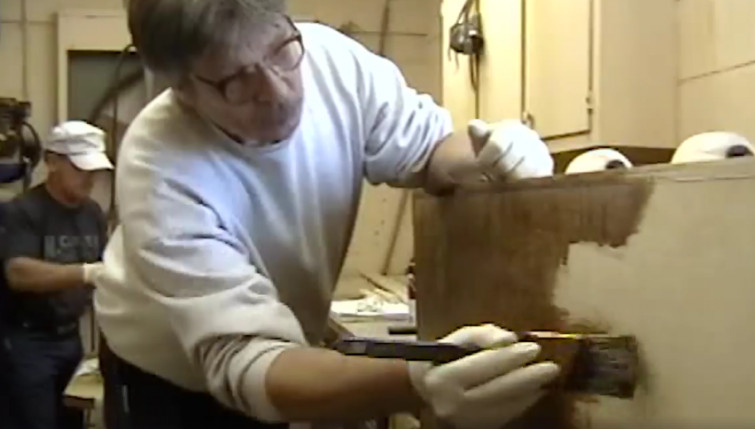 The Making Of Billy Graham's Casket (Franklin Graham, Facebook)
