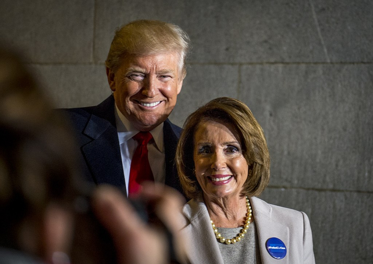 President-elect Donald J. Trump and U.S. Speaker of the House Nancy Pelosi smile for a photo during the 58th Presidential Inauguration in Washington, D.C., Jan. 20, 2017 (Photo: Department Of Defense)